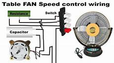 table fan wiring diagram with capacitor table fan speed control wiring youtube