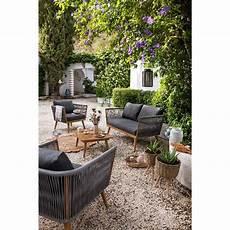 salon de jardin garden salon de jardin gris et naturel azur 4 personnes salon