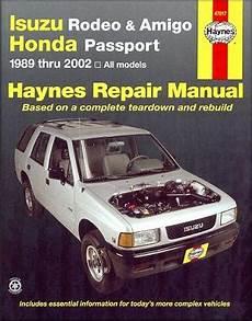 online auto repair manual 1994 isuzu rodeo security system 1989 2002 isuzu rodeo amigo honda passport haynes repair manual