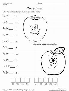multiplication riddles worksheets 10917 multiply by 9 riddle