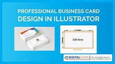 visiting card size video telugu tutorial creative business card design in illustrator