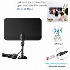 25 Digital Hdtv Indoor Tv Antenna With Universal Iec