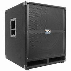 pa powered subwoofers seismic audio 18 quot pa powered subwoofer speaker active ebay