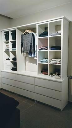 Open Cupboard With Kallax And Malm Cupboard Kallax