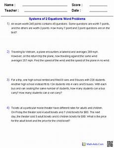 solving systems of equations word problems worksheet systems of two equations word problems word problem worksheets systems of equations word
