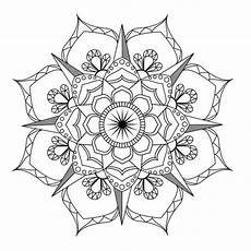 flower mandala coloring page adult coloring art therapy pdf etsy