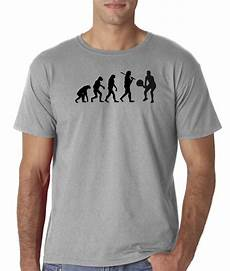 mens evolution of man tennis racket sports t shirt ebay