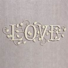 blooms of love metal word wall art