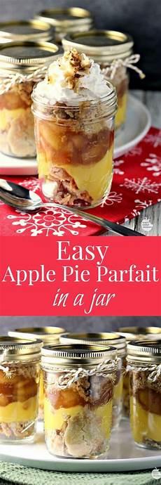 renees kitchen adventures easy apple pie parfait jars by renee s kitchen