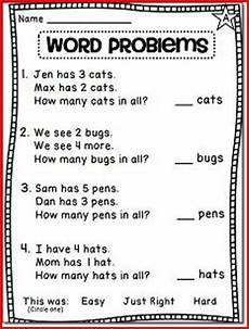 1st grade math worksheets word problem learning printable