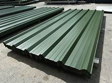 roofing sheets box profile juniper green pvc coated metal steel roof cladding ebay