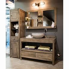 meuble salle de bain rustique gbi vanit 233 en bois salle de bain salle de bain