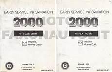 automotive service manuals 2000 chevrolet impala electronic valve timing 2000 impala and monte carlo repair shop manual original 3 volume set