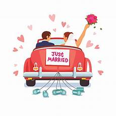Malvorlagen Auto Just Married Just Married Clip Vector Images Illustrations Istock