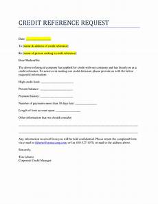 credit request form credit reference request free download