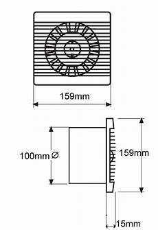 Bathroom Vent Size by Bas100slt Bathroom Kitchen Toilet Wall Mounted Extractor