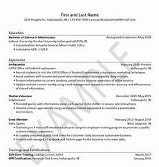 resumes resources office of student employment iupui