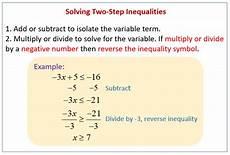 solving inequalities exles solutions videos