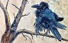 Aquarell Malvorlagen Tiere Rabe Vogel Aquarellmalerei Rabe Tuschmalerei
