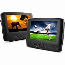ematic 9 quot dual screen portable dvd player with dual dvd