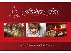 fotokarte weihnachten weihnachtskarte 10x15 cm rot