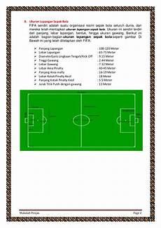 Makalah Penjas Tentang Ukuran Dan Sejarah Sepak Bola