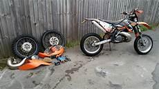2008 ktm 300 exc orange supermoto motocross