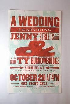 Hatch Show Print Wedding Invitations