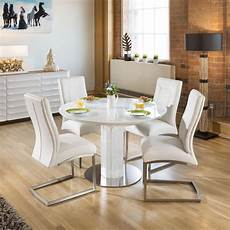 modern extending dining oval glass table 4 chairs white dining sets dining