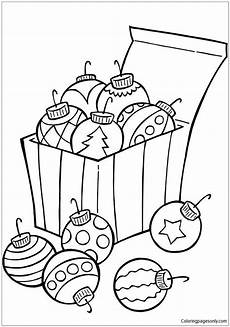 ornaments for tree coloring page free coloring