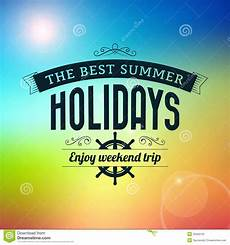 summer holidays enjoy weekend trip typography poster stock