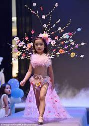 Tiny lingerie model