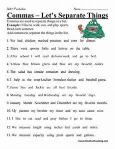 punctuation practice worksheets uk 20912 comma practice worksheet homeschooldressage