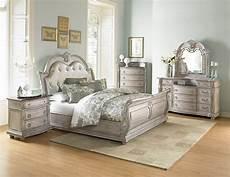 4 piece homelegance palace ii white wash sleigh bedroom set