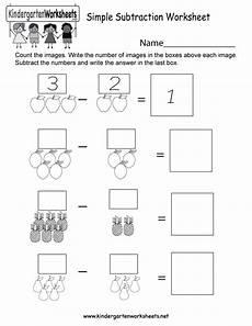 subtraction worksheets easy 10059 simple subtraction worksheet free kindergarten math worksheet for
