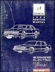 car repair manuals online pdf 1989 buick electra engine control search