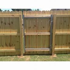 Steel Gate Frame Kit Garden Fence Adjustable Wood