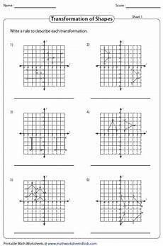 transformation geometry worksheets doc 671 transformation worksheets reflection translation rotation