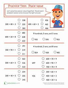 place value quiz worksheet 5644 pin on math