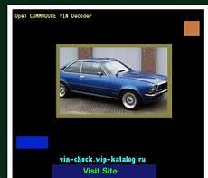 Opel Commodore Vin Decoder Lookup Opel Commodore Vin