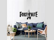 Black Fortress Night FORTNITE Game Wall Stickers Metallic