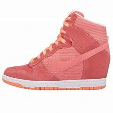 Nike Wedges White Pink nike wmns dunk sky hi essential pink womens wedge sneakers