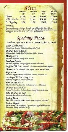 Kitchen Notes Prices by Menu Of Italian Kitchen Restaurant Ovid New York