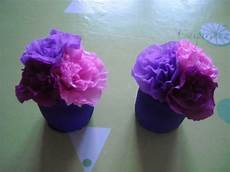 fleur papier crepon petit pot de fleurs en papier crepon