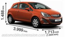 opel corsa abmessungen dimensions of opel vauxhall cars showing length width