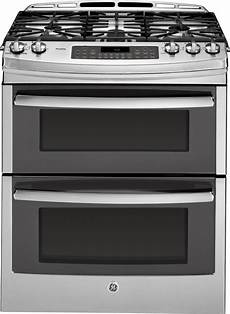 oven gas ge pgs950sefss 30 inch slide in double oven gas range with
