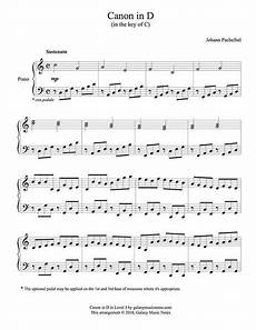 canon in d easy piano solo sheet music pachelbel