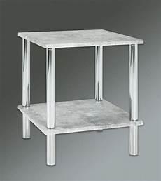 beistelltisch betonoptik haku beistelltisch in betonoptik chrom 39x39 cm