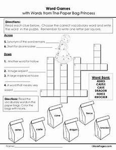 paper bag princess worksheets 15703 the paper bag princess lesson plans activities package second grade ccss