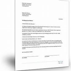 kündigung mietvertrag vermieter mietvertragmuster kostenlos